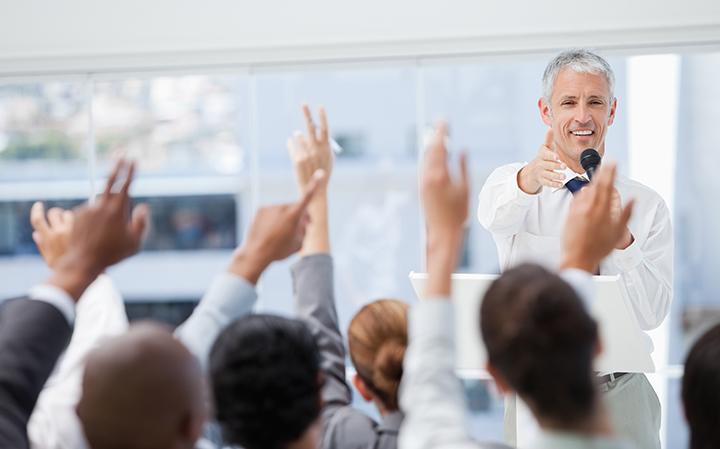 Class raising their hands